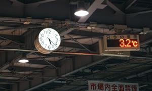 時聞は朝5時、気温は3℃・・・寒い!!